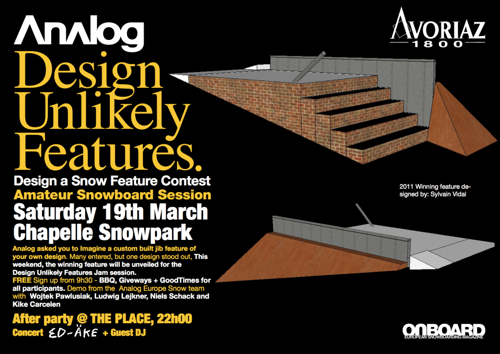 Analog 'Design Unlikely Features' Comp – Sat 19th March, AV, FR.