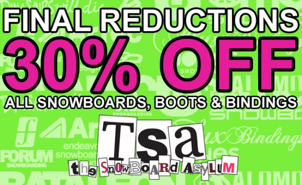 Roll Up Roll Up, another 30% off at T.S.A starting tomorrow
