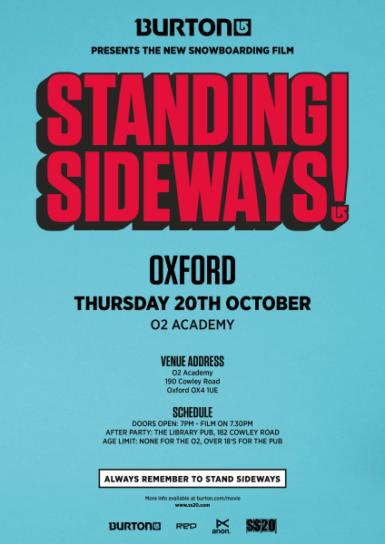 Burton Standing Sideways – UK Dates