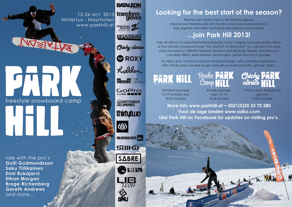 Park Hill Camp – 18-26th October, Hintertux.
