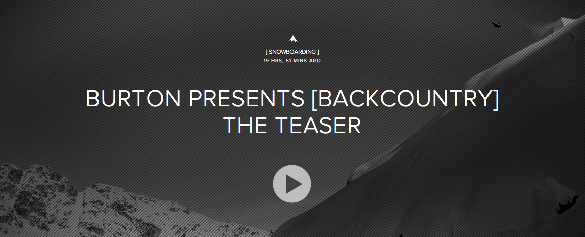 Burton Presents [Backcountry] Teaser