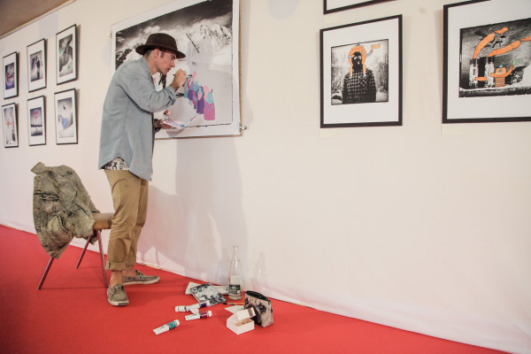 Lucas Beaufort painting one off prints by Reason photographer Jerome Tanon
