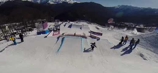 Olympic Slopestyle course preview with Alexey Sobolev
