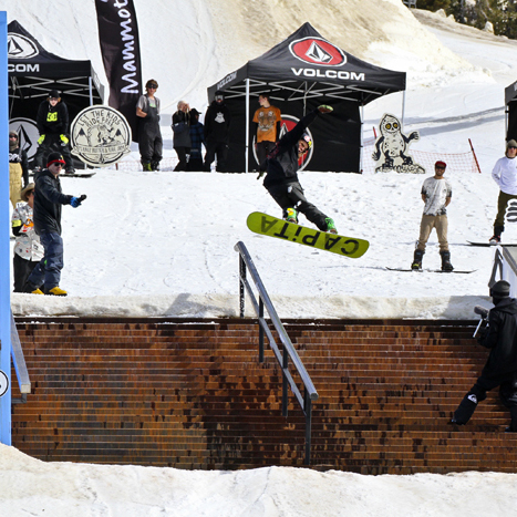 Volcom stay True To This with the Peanut Butter Rail Jam finals