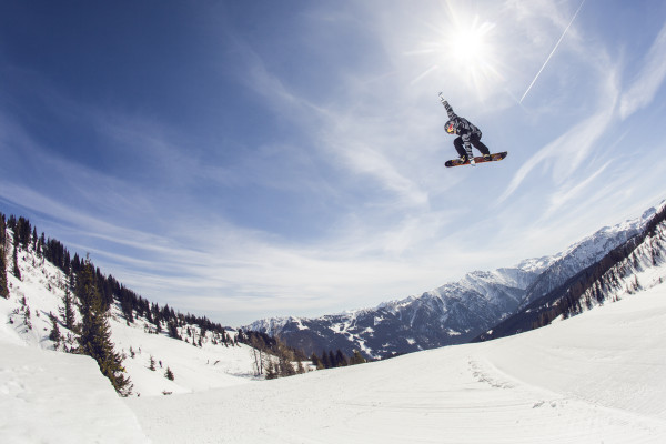 Aimee Fuller performs during a training session at the Absolut Park in Flachauwinkl, Austria on April 10th, 2015