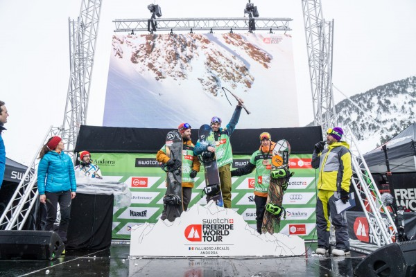 The UK's Sascha Hamm wins the first stage of the Freeride World Tour!
