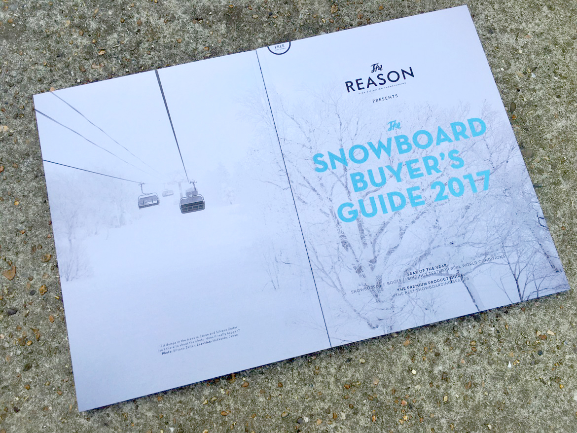 Mail order is now live for The Snowboard Buyer's Guide 2017