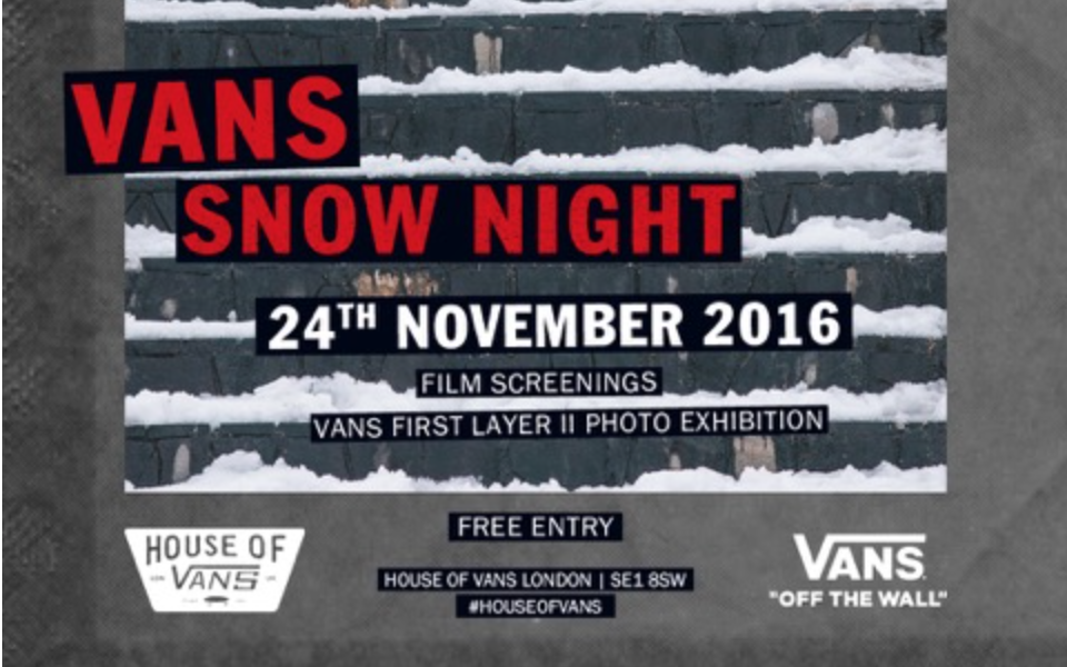 Vans Snow Night