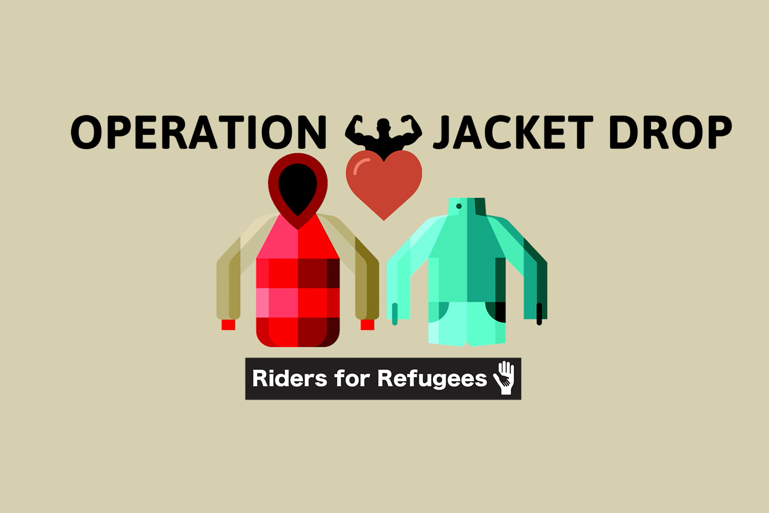 Riders for Refugees –Operation Jacket Drop