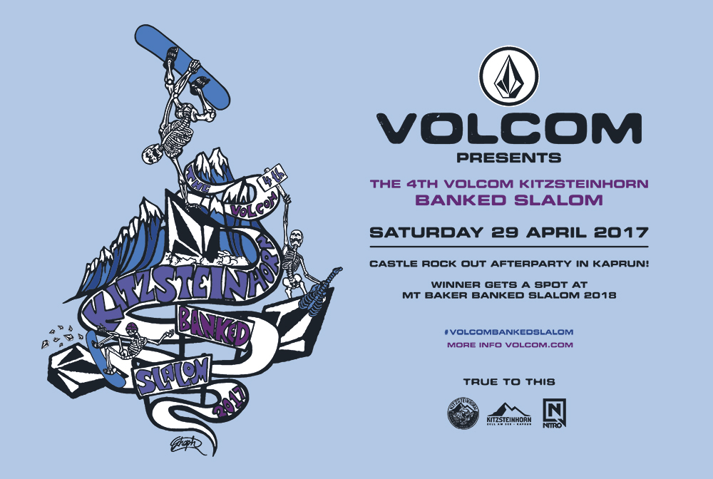 The 2017 Volcom Banked Slalom at Kitzsteinhorn