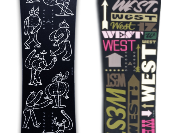 West Snowboards limited editions of 1!