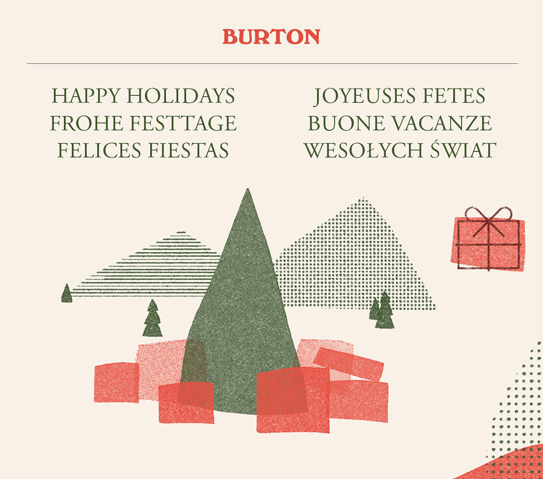 Happy Holidays from Burton